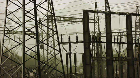 Still shot of power station Live Action