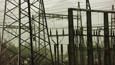 Still Shot Of Power Station stock footage