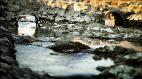 slowly running water Footage