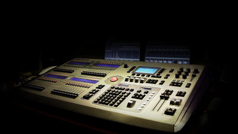 Still shot of a mixing console Live Action