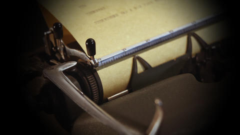 Typewriter's Detail stock footage