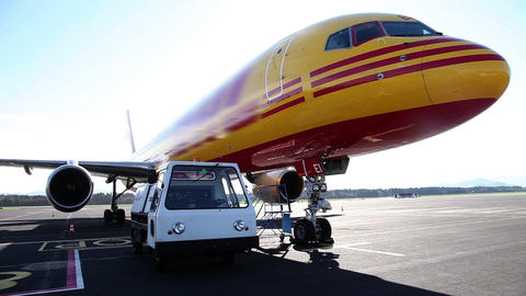Airplane Getting Ready stock footage