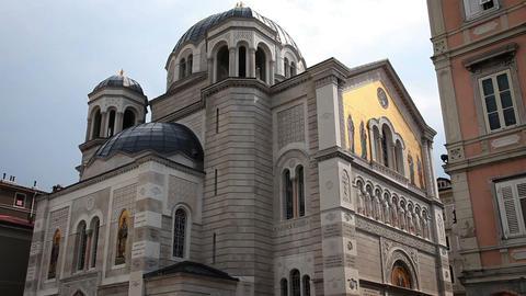 Old Building In Trieste stock footage