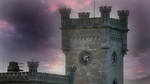 castle with beautifull sky Live Action