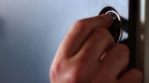 Detail Shot Of The Hand That Is Opening The Lock O stock footage