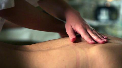 Female massage work Footage