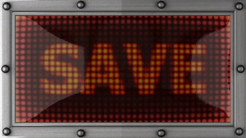 save announcement on the LED display Stock Video Footage