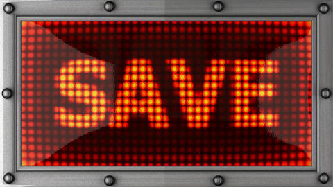 save announcement on the LED display Animation