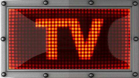 tv announcement on the LED display Stock Video Footage