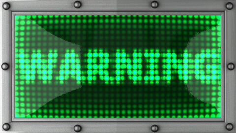 warning announcement on the LED display Stock Video Footage