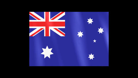 National Flags 4 AUS Australia Stock Video Footage