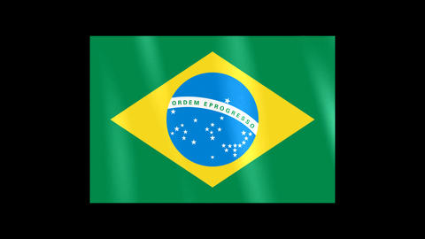 National Flags 4 BRA Brazil Stock Video Footage