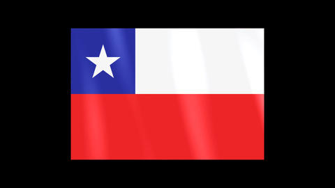 National Flags 4 CHI Chile Stock Video Footage