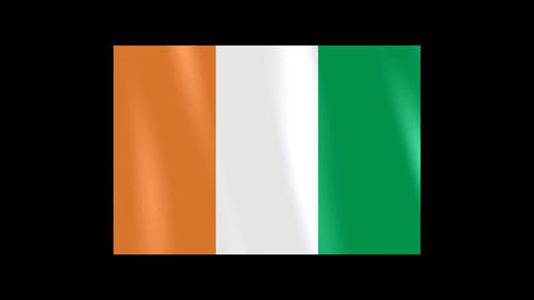 National Flags 4 CIV Cote d Ivoire Stock Video Footage