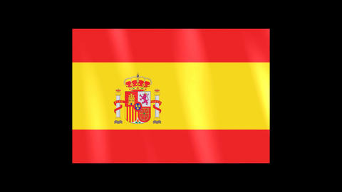 National Flags 4 ESP Spain Stock Video Footage