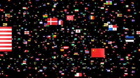 National Flags 4 GBR U.K Stock Video Footage