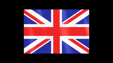 National Flags 4 GBR U.K Stock Video Footage