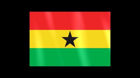 National Flags 4 GHA Ghana Stock Video Footage