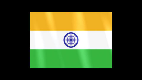 National Flags 4 IND India Stock Video Footage