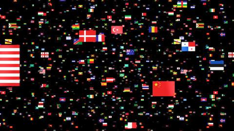 National Flags 4 JPN Japan Stock Video Footage