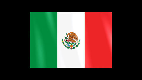 National Flags 4 MEX Mexico Stock Video Footage