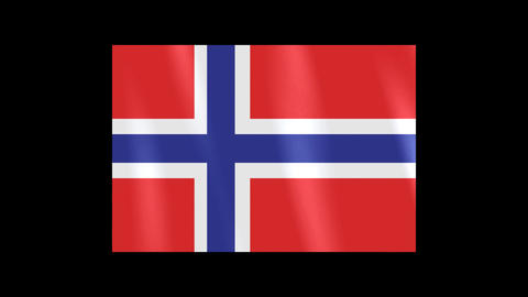 National Flags 4 NOR Norwegian Stock Video Footage