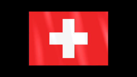 National Flags 4 SUI Switzerland Stock Video Footage