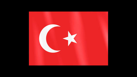 National Flags 4 TUR Turkey Stock Video Footage