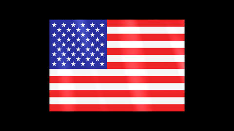 National Flags 4 USA United States of America Stock Video Footage