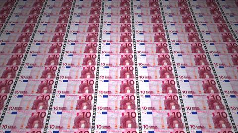 10 Euros Loop Stock Video Footage