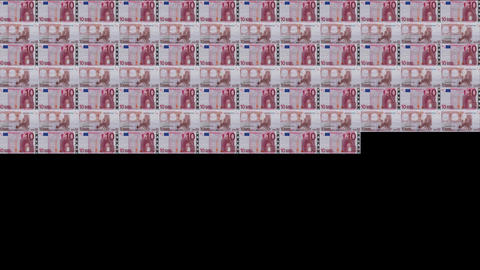 10 Euros Wall 02 Stock Video Footage
