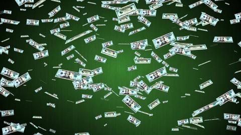 falling dollars Stock Video Footage
