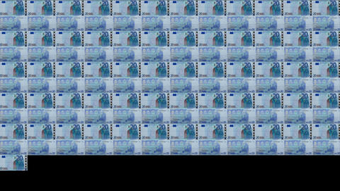 20 Euros Wall 02 Stock Video Footage