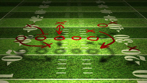 American Football Tactics 01 Stock Video Footage