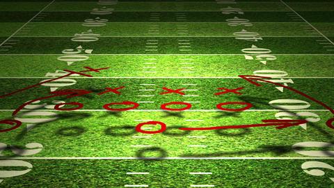 American Football Tactics 05 Stock Video Footage