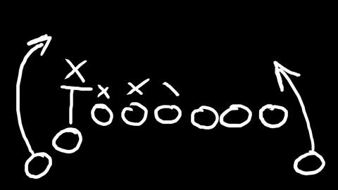 American Football Tactics 07 Stock Video Footage