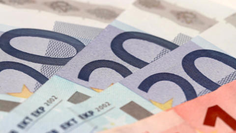 euro banknotes Stock Video Footage