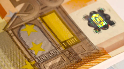 Euro Banknotes 03 Dolly Stock Video Footage