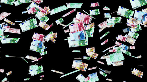 Euro Banknotes Falling 01 Stock Video Footage