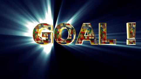 goal animated blue Stock Video Footage