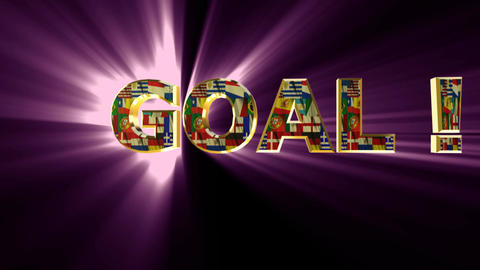 goal animated pink Stock Video Footage