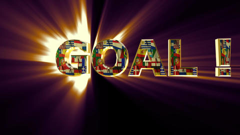 goal animated multicolor Stock Video Footage