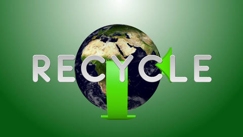 Recycle Earth 02 Stock Video Footage