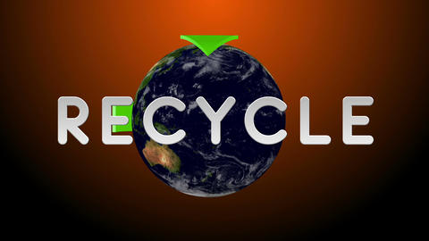 Recycle Earth 04 Stock Video Footage