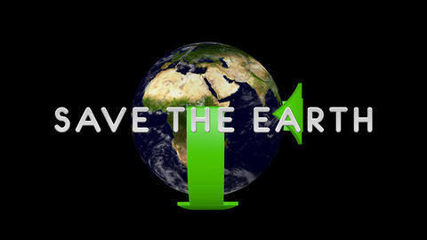 Save The Earth 01 alpha Stock Video Footage