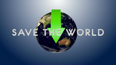Save The World 03 Stock Video Footage