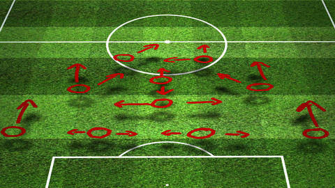 European Football - Soccer Tactics 03 Stock Video Footage