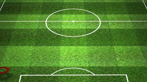 European Football - Soccer Tactics 03 Stock Video Footage