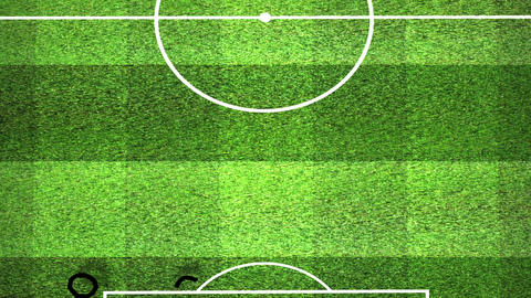European Football - Soccer Tactics 10 Stock Video Footage