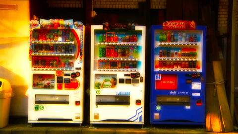 vending machines Stock Video Footage